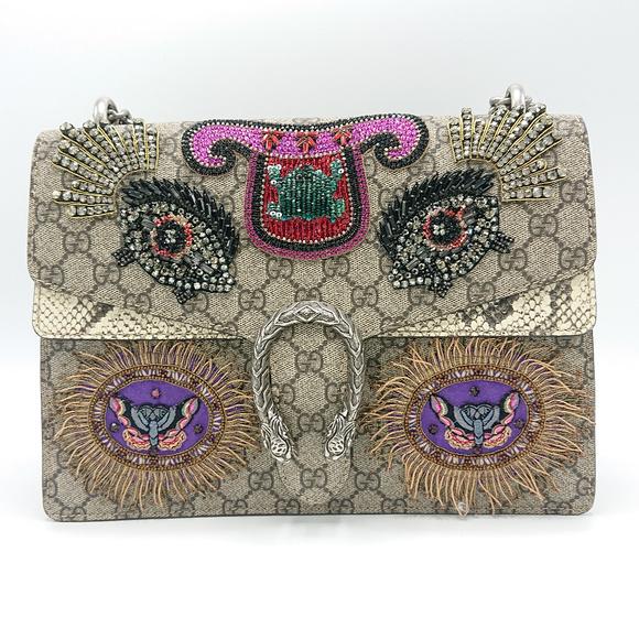 Gucci Handbags - NEW GUCCI DIONYSUS GG SNAKESKIN CRYSTAL MEDIUM BAG